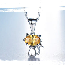 Load image into Gallery viewer, 925 Sterling Silver Ivy's Pendant - Created Citrine