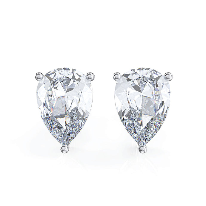 925 Sterling Silver Water Drop Moissanite Ear Studs - Available in Yellow