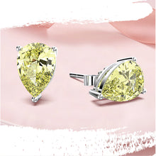 Load image into Gallery viewer, 925 Sterling Silver Water Drop Moissanite Ear Studs - Available in Yellow