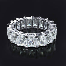 Load image into Gallery viewer, 925 Sterling Silver Moissanite Rectangle Eternity Band
