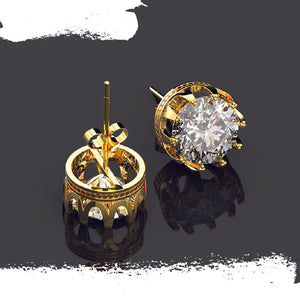 925 Sterling Silver Round Moissanite Ear Studs - Colors Available