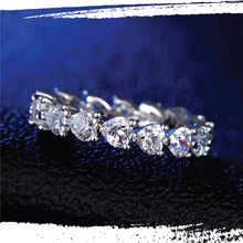 Load image into Gallery viewer, Platinum Plated Silver Lab Grown Diamond Eternal Sweetheart Ring