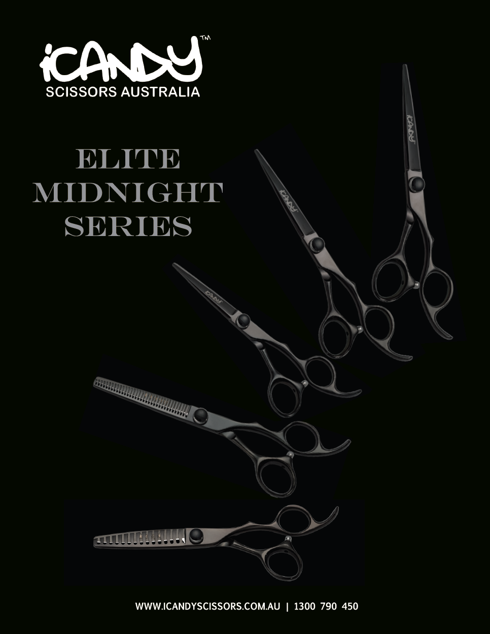 iCandy Elite Midnight Series Scissors Collection