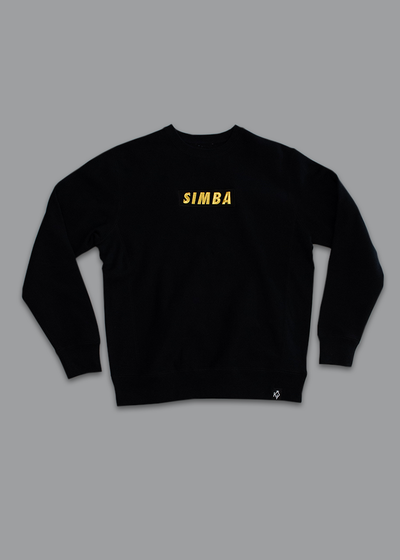 Black Heavyweight Simba Crewneck Sweatshirt