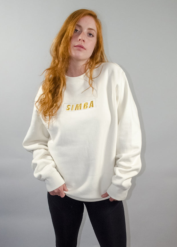 Cream Heavyweight Simba Crewneck Sweatshirt