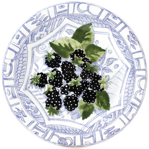 Open image in slideshow, Oiseau Bleu Fruits Dessert Plate