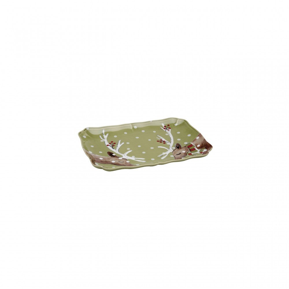 Deer Friends Rectangular Platter