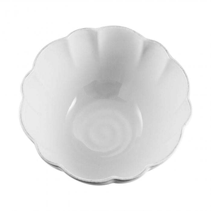 Hartland Scallop Stone Serving Bowl