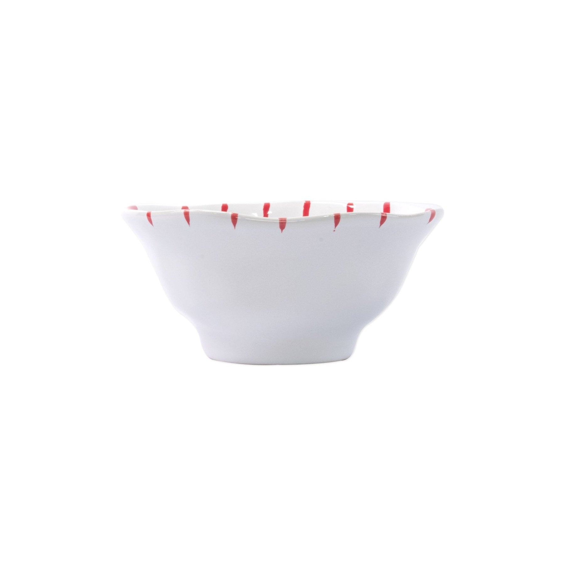Stripe Red Berry Bowl