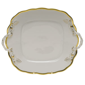 Open image in slideshow, Gwendolyn Square Cake Plate with Handles