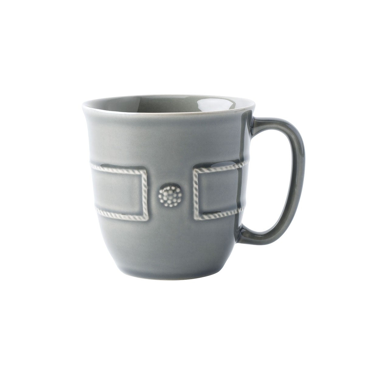 Berry and Thread French Panel Coffee/Tea Cup Stone Grey