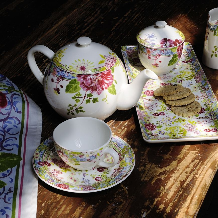 Millefleurs Tea Cup and Saucer Set