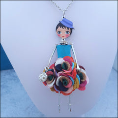Bonsny Doll - Rainbow Flower Dress