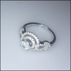 Elegant Knot Sterling Silver Ring