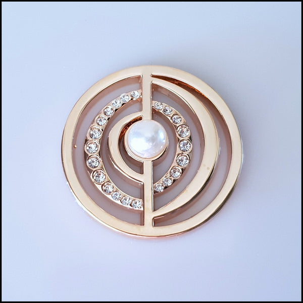 Coin for Coin Pendant - Pearl Centre Rose Gold