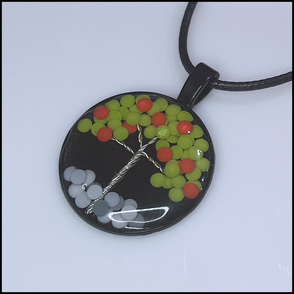 Handmade Resin Tree Pendant - Apple Tree