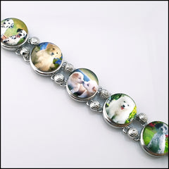 5 Snap Button Dog Bracelet Set