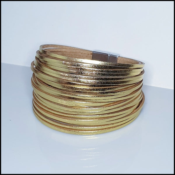 Multi Strand Magnetic Bracelet - Gold