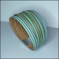 Multi Strand Magnetic Bracelet - Mint/Blue