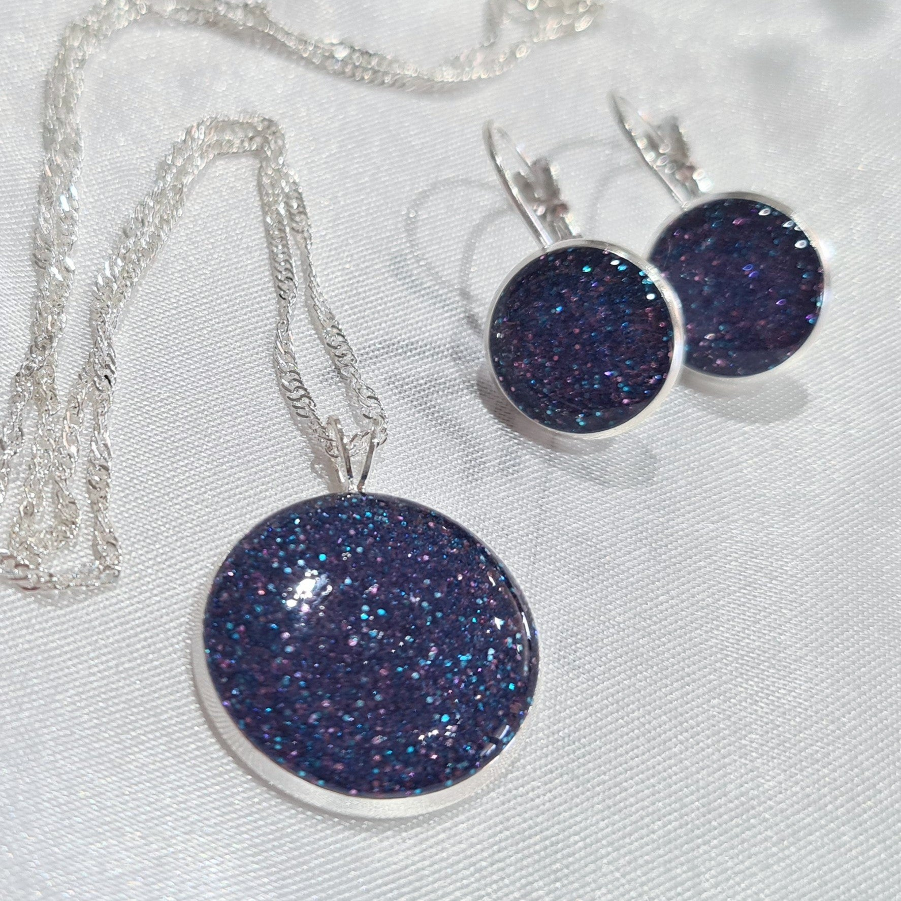 Glitter Resin 2 piece Jewellery Set