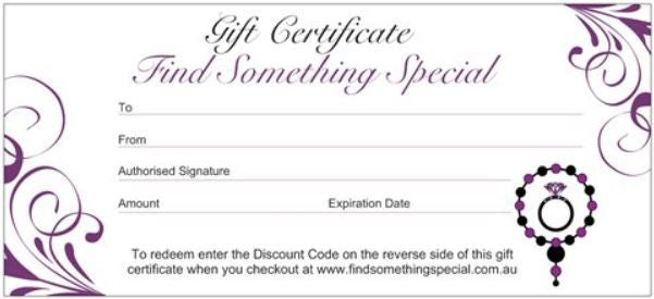 $50 Gift Certificate - Find Something Special