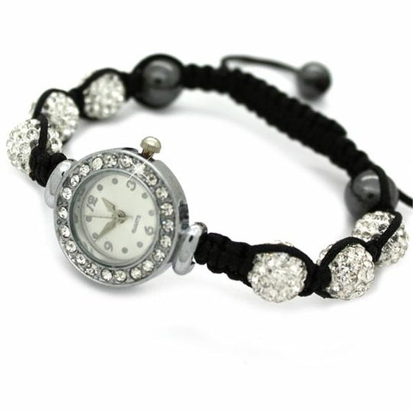 Clear Crystal Shamballa Watch