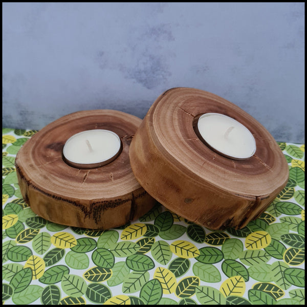 Handmade large Timber Tea Light Holder (1 Piece)