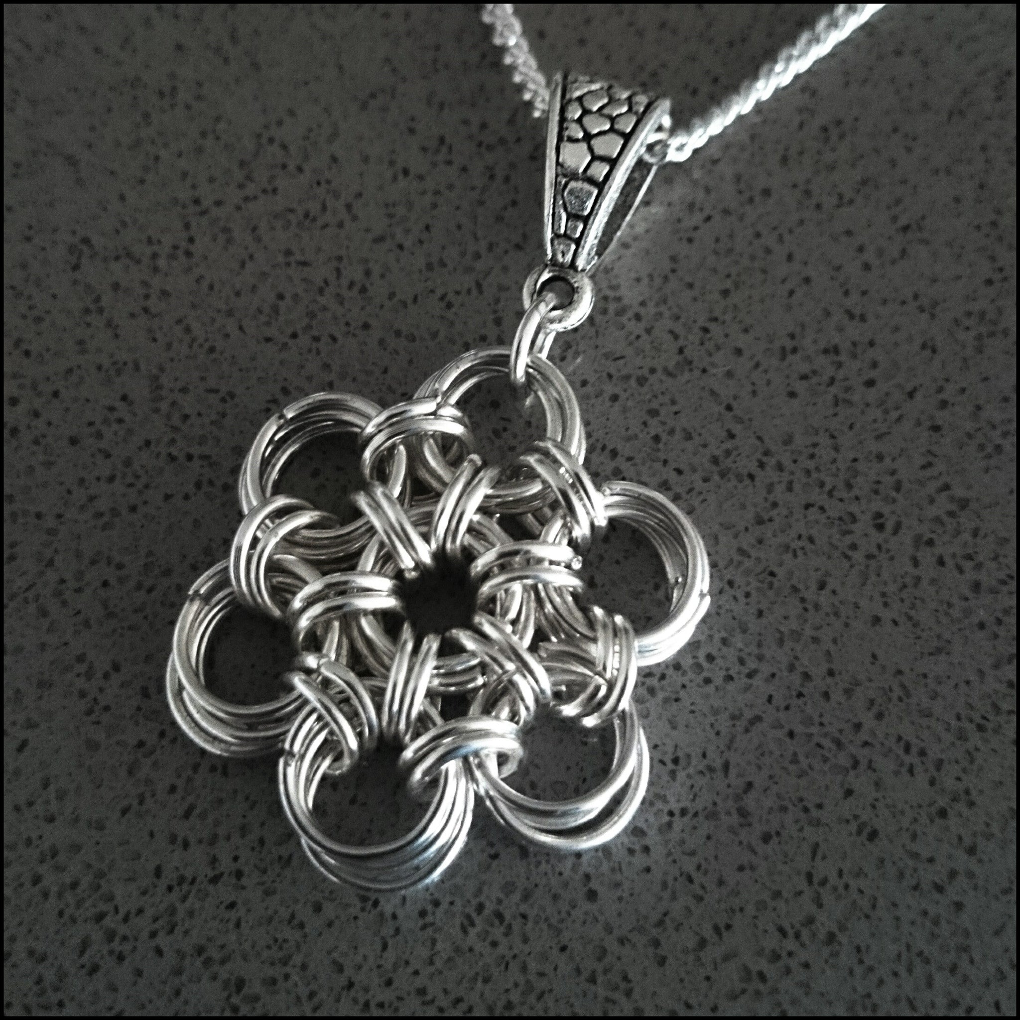 Silver Handmade Flower Pendant - Find Something Special