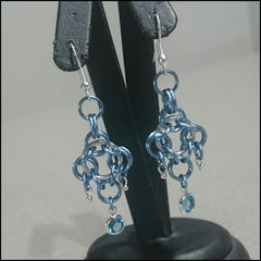 Handmade Earrings - Blue Romance - Find Something Special