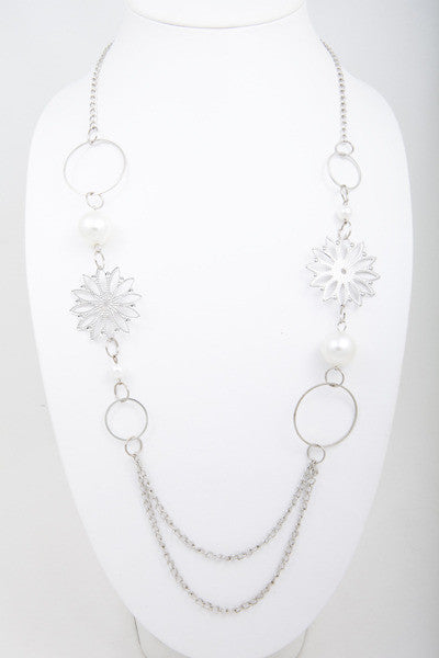 Silver Flowers Multi Chain - Find Something Special