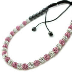 Full Clear & Pink Shamballa Crystal Necklace - Find Something Special