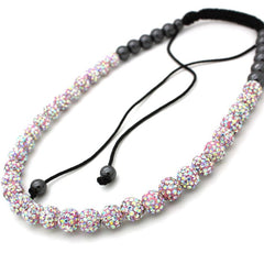 Full Pink Diamond Shamballa Necklace - Find Something Special