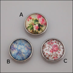 Garden Print Snap Button - Find Something Special