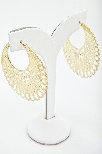 Gold Cut-Out Hoops - Find Something Special