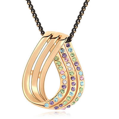 Multicolour Austrian Crystal Pendant - Find Something Special