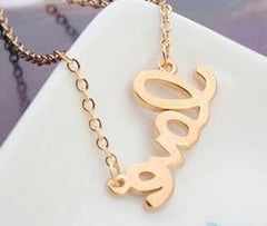 "Purple and Gold ""Love"" Necklace - Find Something Special - 3"
