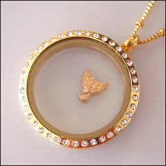 Gold Angel Floating Charm - Find Something Special - 2