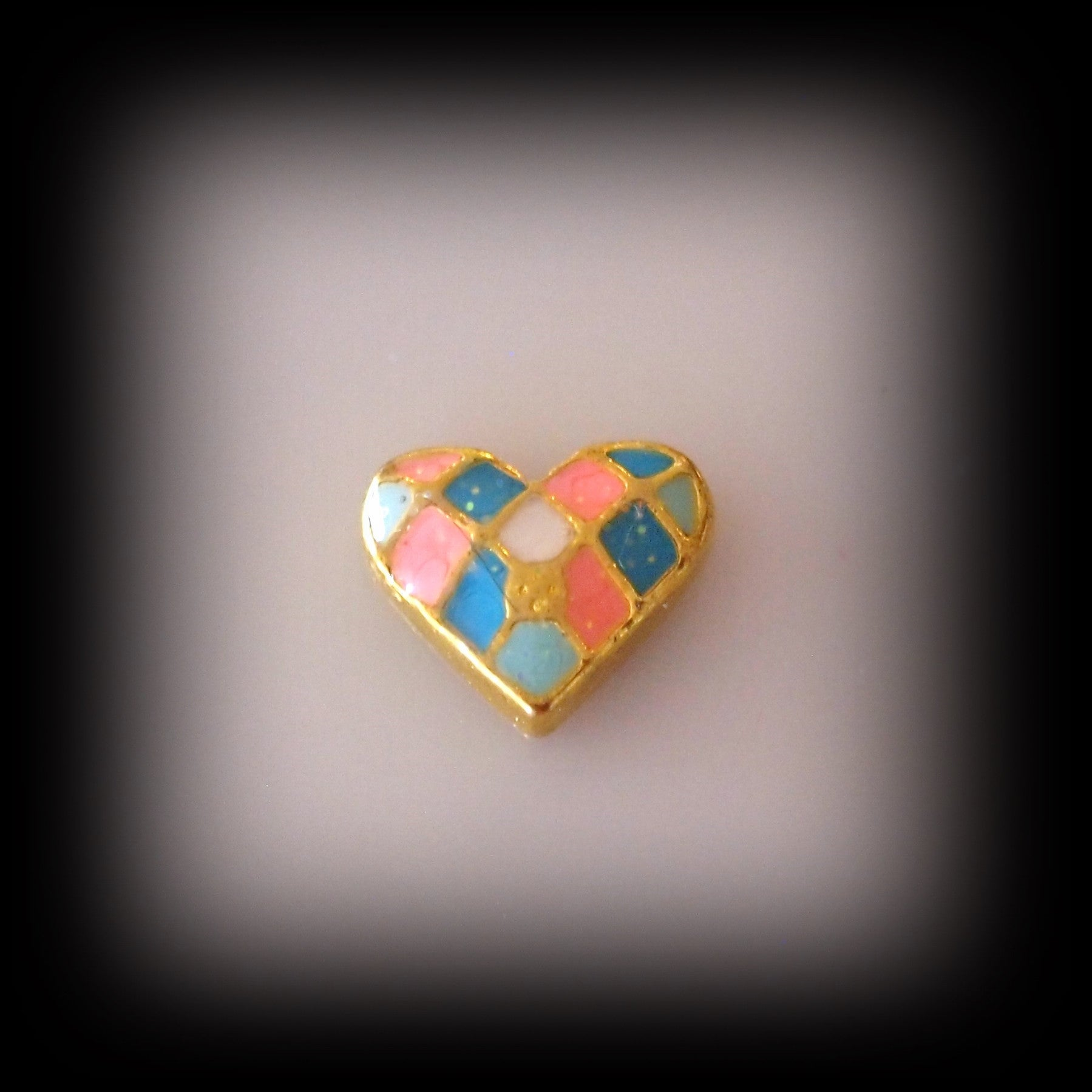 Patchwork Heart Floating Charm - Find Something Special