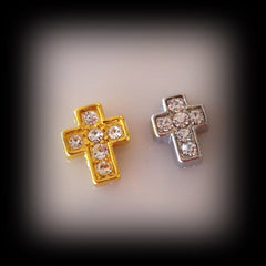 Crystal Cross Floating Charm - Find Something Special