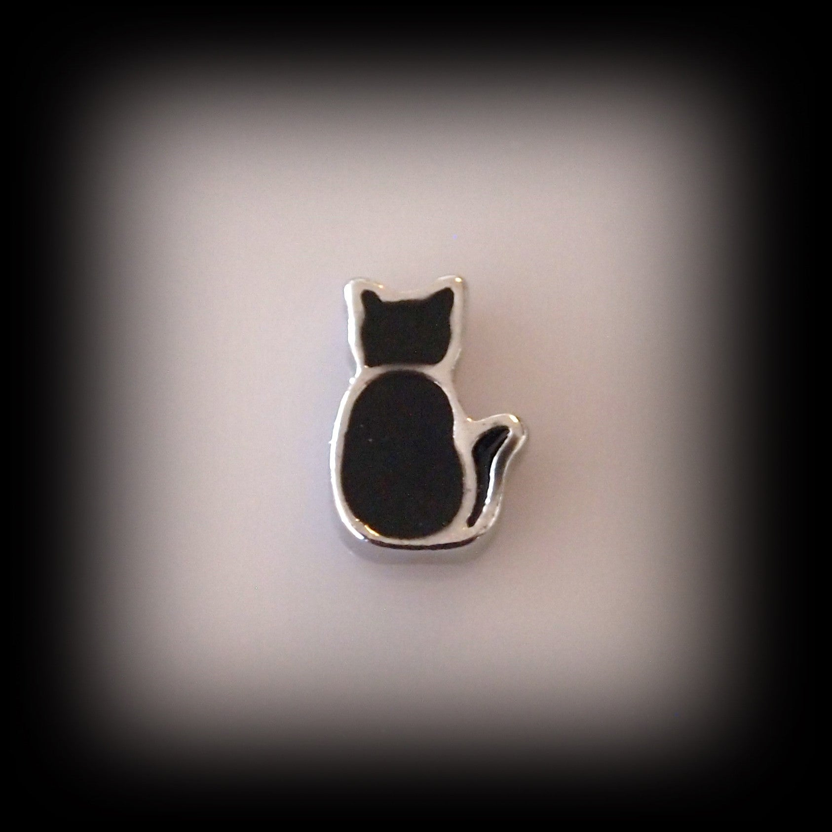 Black Cat Floating Charm - Find Something Special