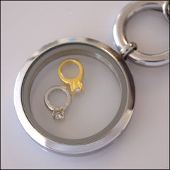 Diamond Ring Floating Charm - Find Something Special