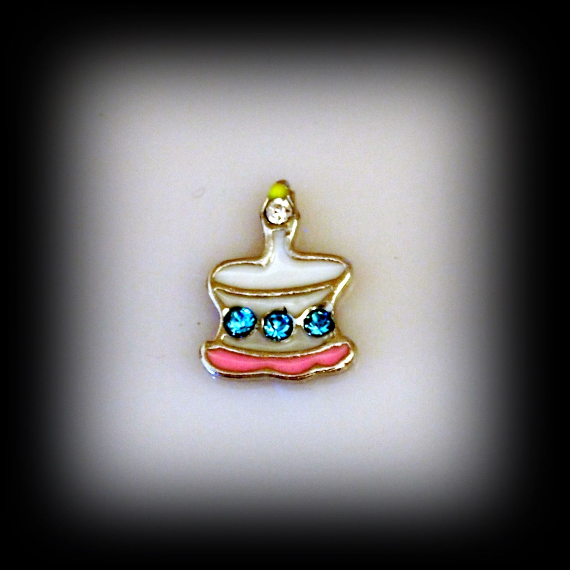 Crystal Birthday Cake Floating Charm - Find Something Special