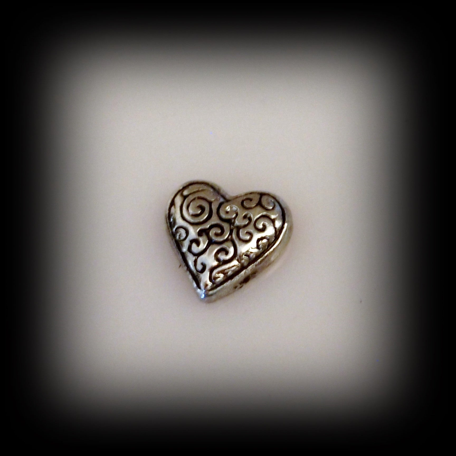 Scroll Heart Floating Charm - Find Something Special - 1