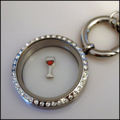 Wine Glass Floating Charm - Find Something Special - 2