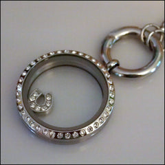 Crystal Horse Shoe Floating Charm - Find Something Special - 2