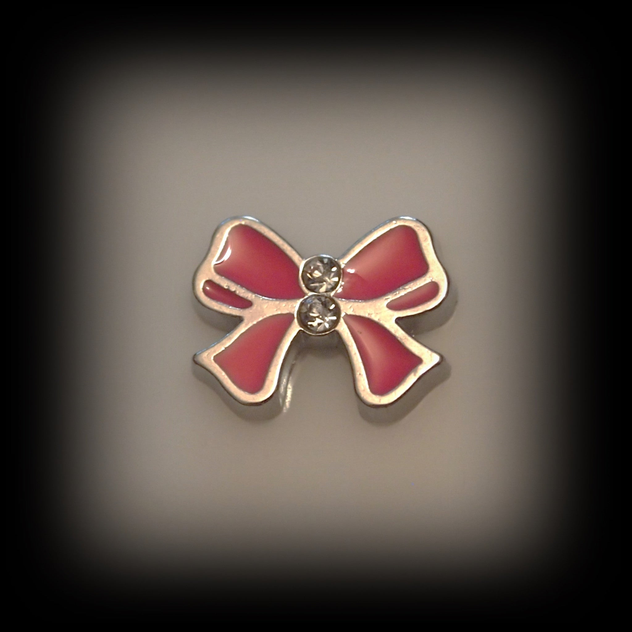 Pink Bow Floating Charm - Find Something Special