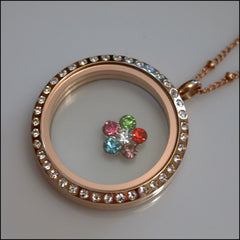 Multicolour Flower Floating Charm - Find Something Special