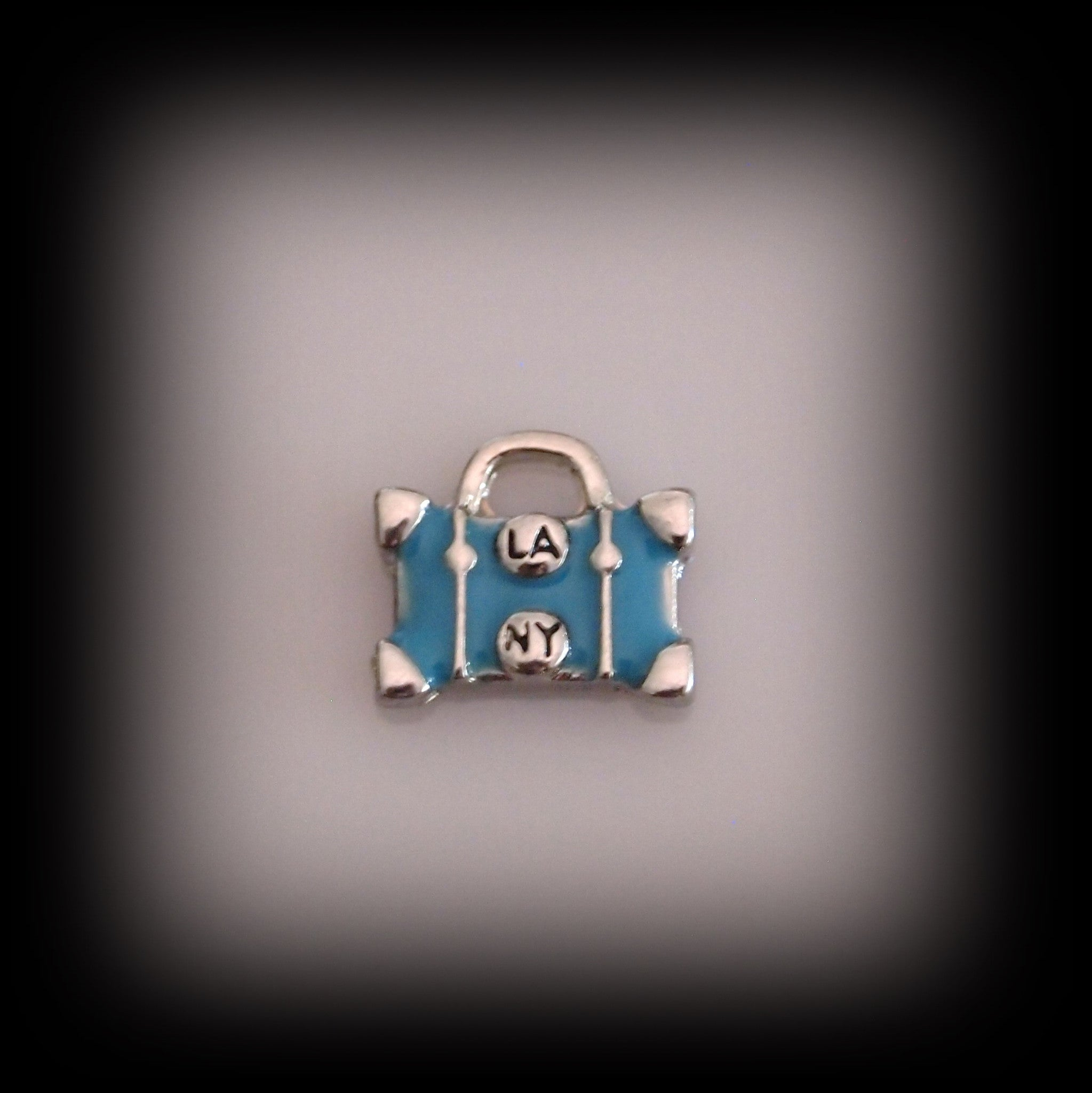 LA NY Luggage Floating Charm - Find Something Special - 1
