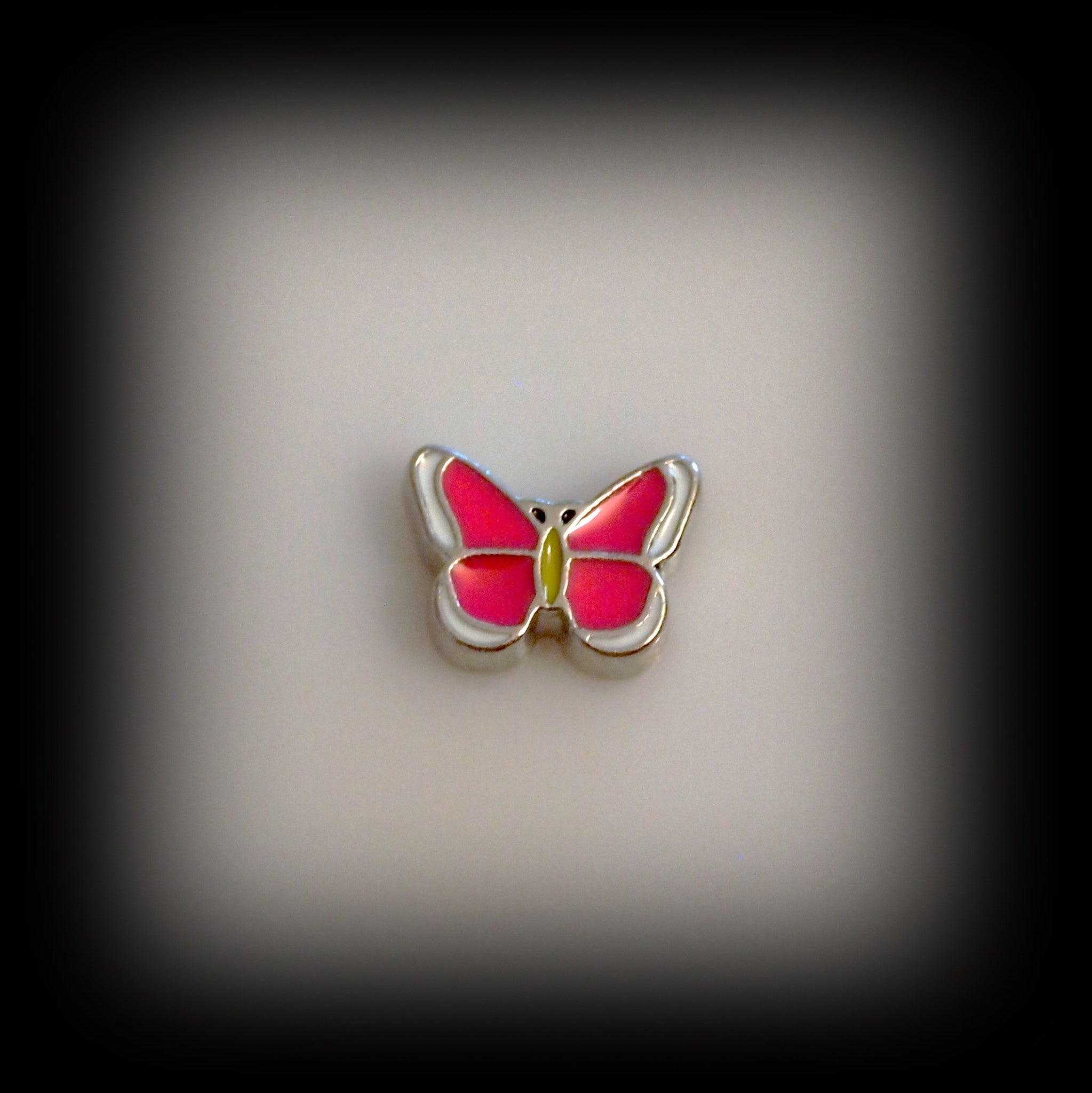 Pink Butterfly Floating Charm - Find Something Special