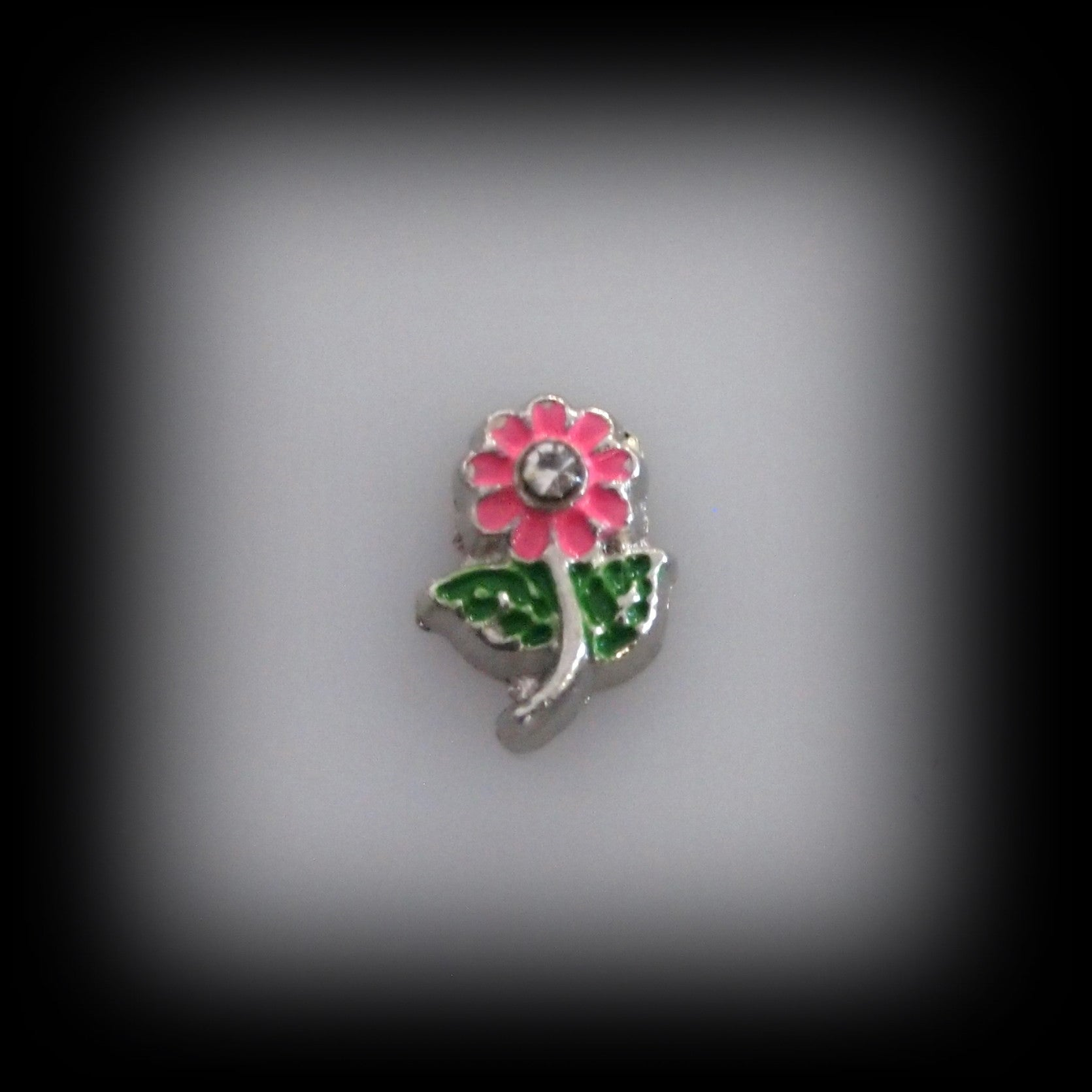 Pink Stem Flower Floating Charm - Find Something Special - 1